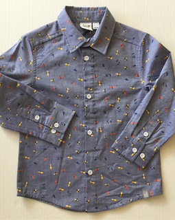 Chambray Plane Button Up