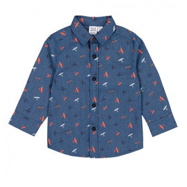 Plane Chambray Button Up