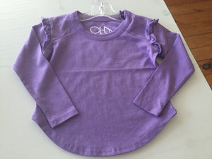 Ruffle sleeve purple long sleeve