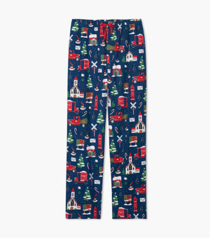 Family Holiday Pjs Classic Christmas Blue Men's Set