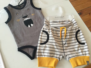 Lion Bodysuit Shorts Set