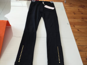 Black legging with gold studs