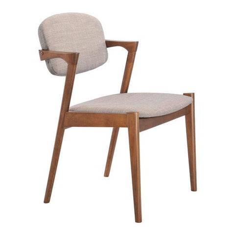 Zuo Brickell Dining Chair Dove Gray