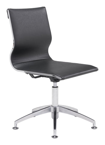 Glider Conference Chair Black Furniture Zuo