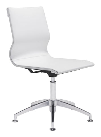 Glider Conference Chair White Furniture Zuo
