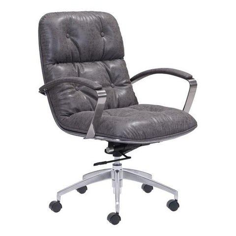 Avenue Office Chair Vintage Gray Furniture Zuo