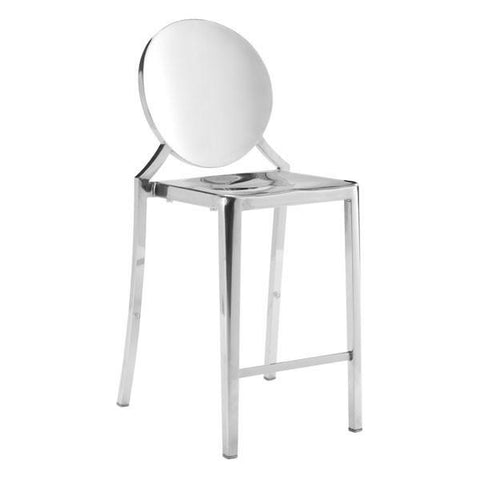 Eclispe Counter Chair Stainless Steel (Set of 2) Furniture Zuo