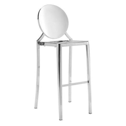 Eclispe Bar Chair Stainless Steel (Set of 2) Furniture Zuo