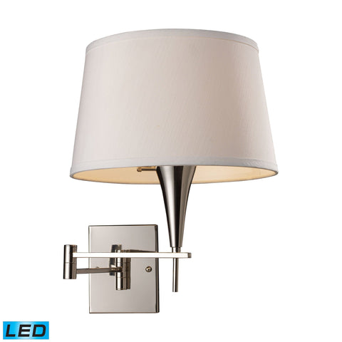 Swingarms 1 Light LED Swingarm Sconce In Polished Chrome Wall Elk Lighting