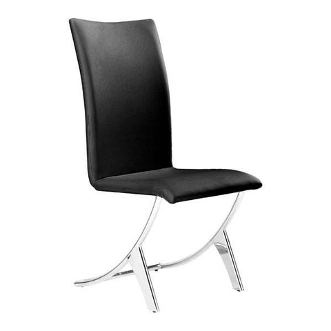 Delfin Dining Chair Black (Set of 2) Furniture Zuo