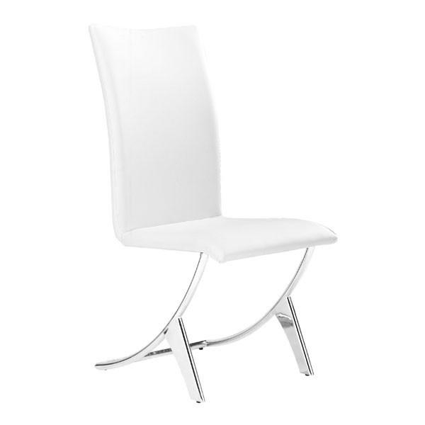 Delfin Dining Chair White (Set of 2) Furniture Zuo