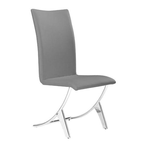 Delfin Dining Chair Gray (Set of 2) Furniture Zuo