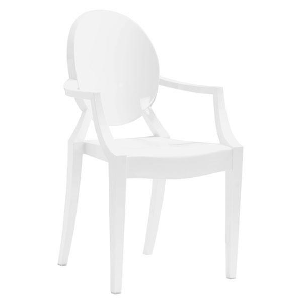 Anime Dining Chair White (Set of 4) Outdoor Zuo