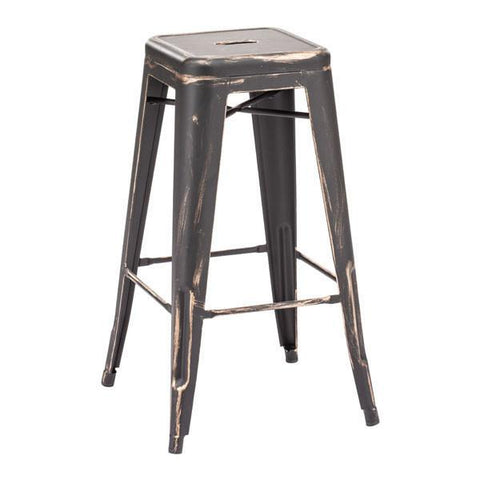 Marius Barstool Antique Black Gold (Set of 2) Furniture Zuo