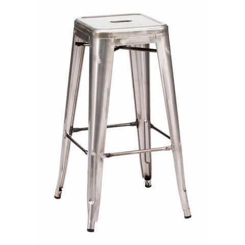 Marius Barstool Gunmetal (Set of 2) Furniture Zuo