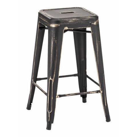 Marius Counter Stool Antique Black Gold (Set of 2) Furniture Zuo