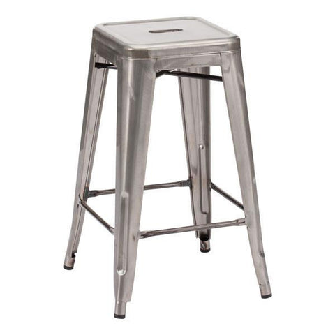 Marius Counter Stool Gunmetal (Set of 2) Furniture Zuo