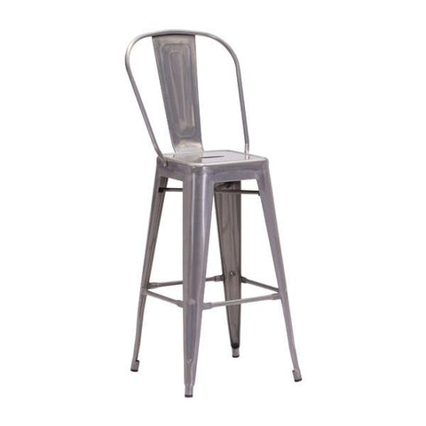 Elio Bar Chair Gunmetal (Set of 2) Furniture Zuo