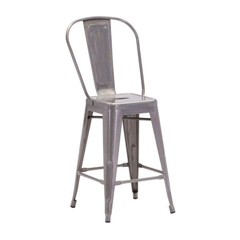 Elio Counter Chair Gunmetal (Set of 2) Furniture Zuo