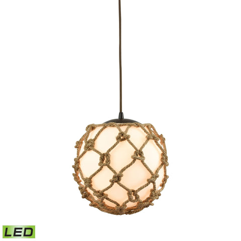 Elk Lighting Coastal Inlet 1 Light LED Pendant In Oil Rubbed Bronze
