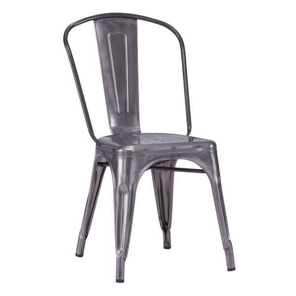 Elio Dining Chair Gunmetal (Set of 2) Furniture Zuo