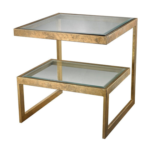 Key Side Table In Gold Leaf Furniture Dimond Home