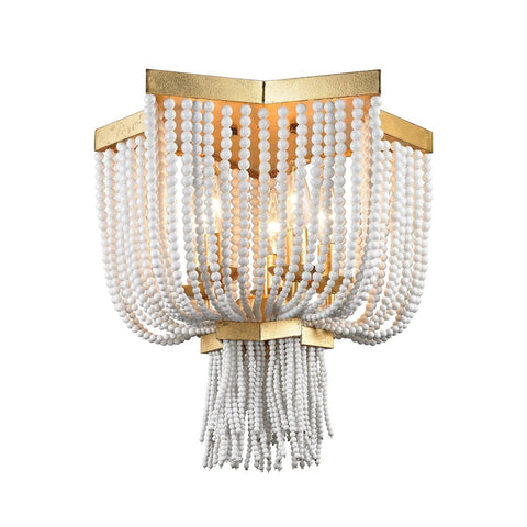 Chaumont 5 Light Flush Mount In Antique Gold Leaf Ceiling Dimond Lighting