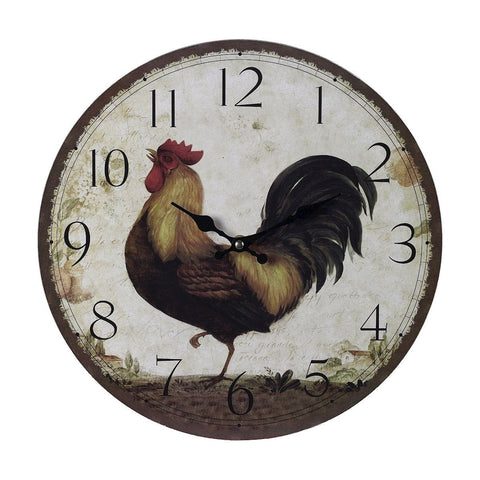 Sterling Rooster Clock - Large 118-031