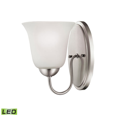Conway Brushed Nickel Wall Sconce w/LED Bulb