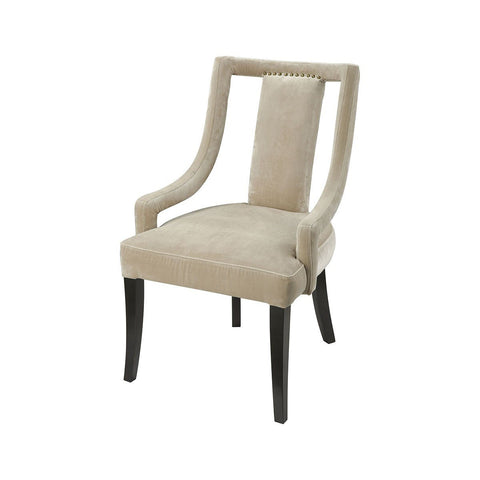 Hutton Mink Velvet Chair