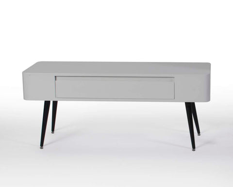Black & White Console/Desk w/Drawer with Short Legs