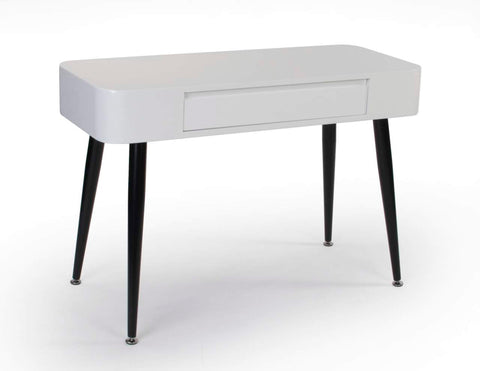 Black & White Console/Desk w/Drawer with Tall Legs