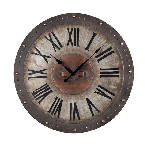 Sterling Metal Roman Numeral Outdoor Wall Clock 128-1005