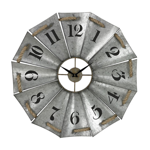 Sterling Priory Road Aluminum And Rope Wall Clock 129-1091