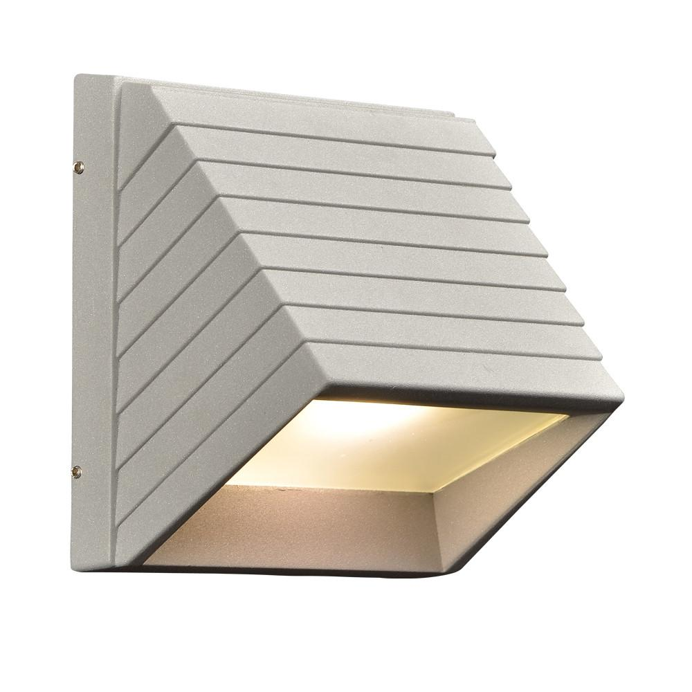 "Le Doux 7"" LED Outdoor Fixture - Silver Outdoor PLC Lighting"