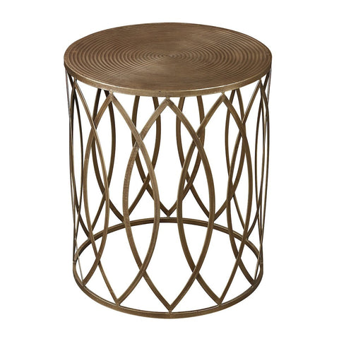 Accent Table In Gold Leaf