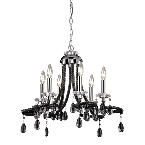 "Black Acrylic 22""w Mini Chandelier"