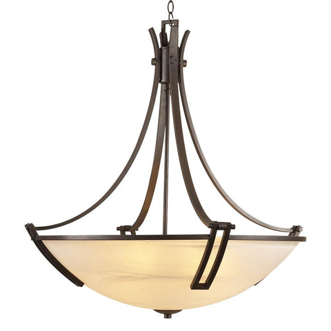 "Highland 30""w Bowl Pendant Chandelier"