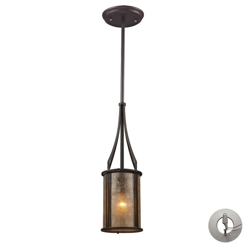 Barringer Pendant And Tan Mica With Adapter Kit