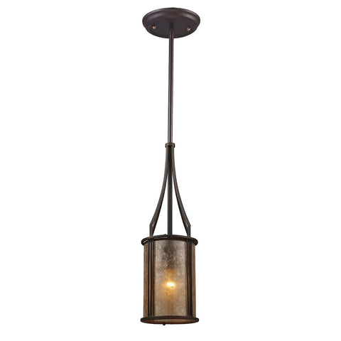 Barringer Pendant And Tan Mica