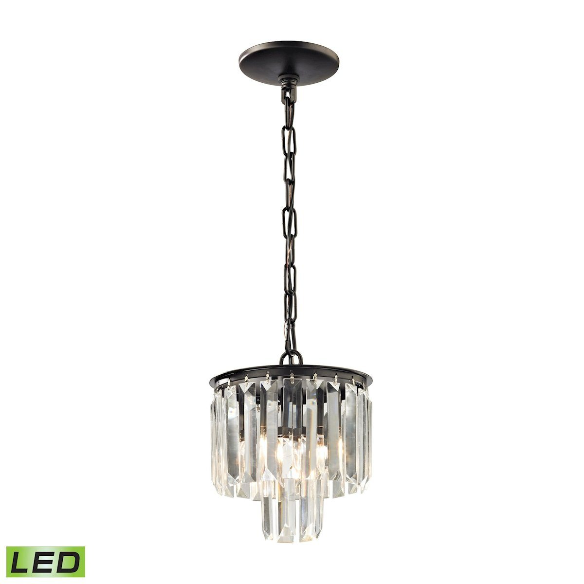 Palacial LED Pendant In Oil Rubbed Bronze Ceiling Elk Lighting