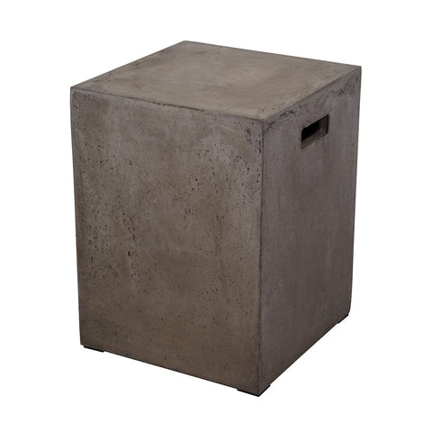 Cubo Square Handled Concrete Stool Furniture Dimond Home