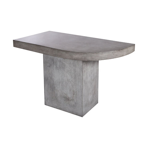Millfield Concrete Outdoor Dining Table - Right Side