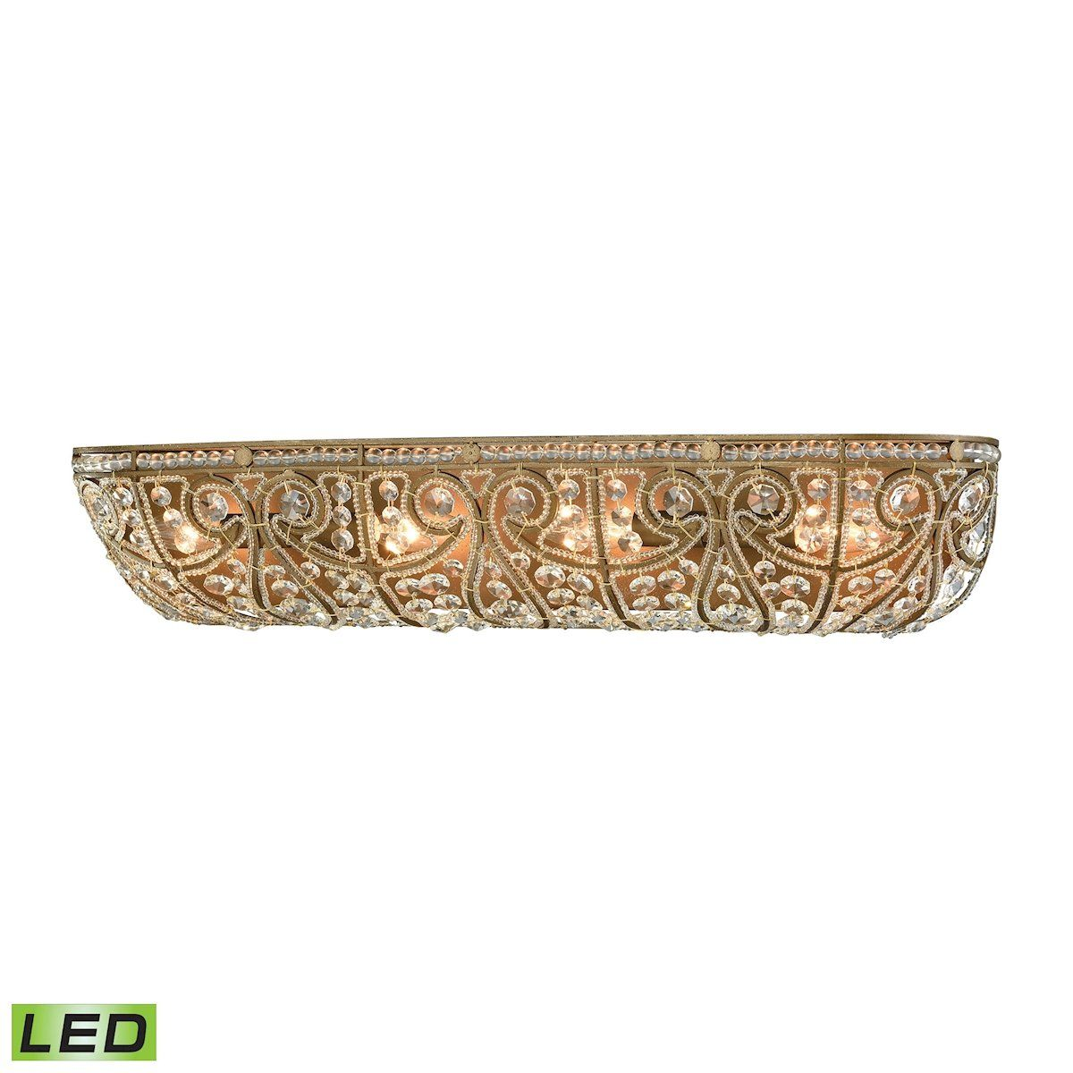 Elizabethan 4 Light LED Vanity In Dark Bronze Wall Elk Lighting