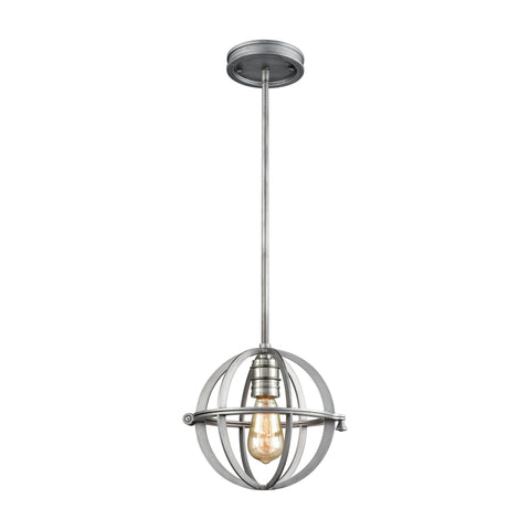 "Aubridge 10""w Weathered Zinc Mini Pendant"