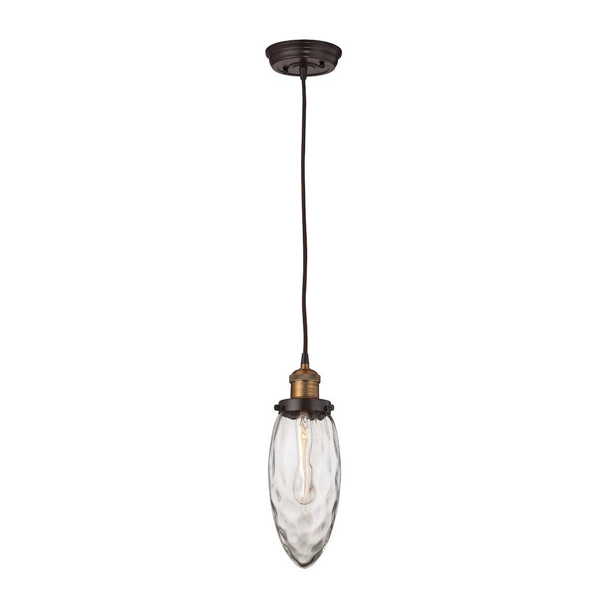 Owen Pendant In Oil Rubbed Bronze And Antique Brass Ceiling Elk Lighting