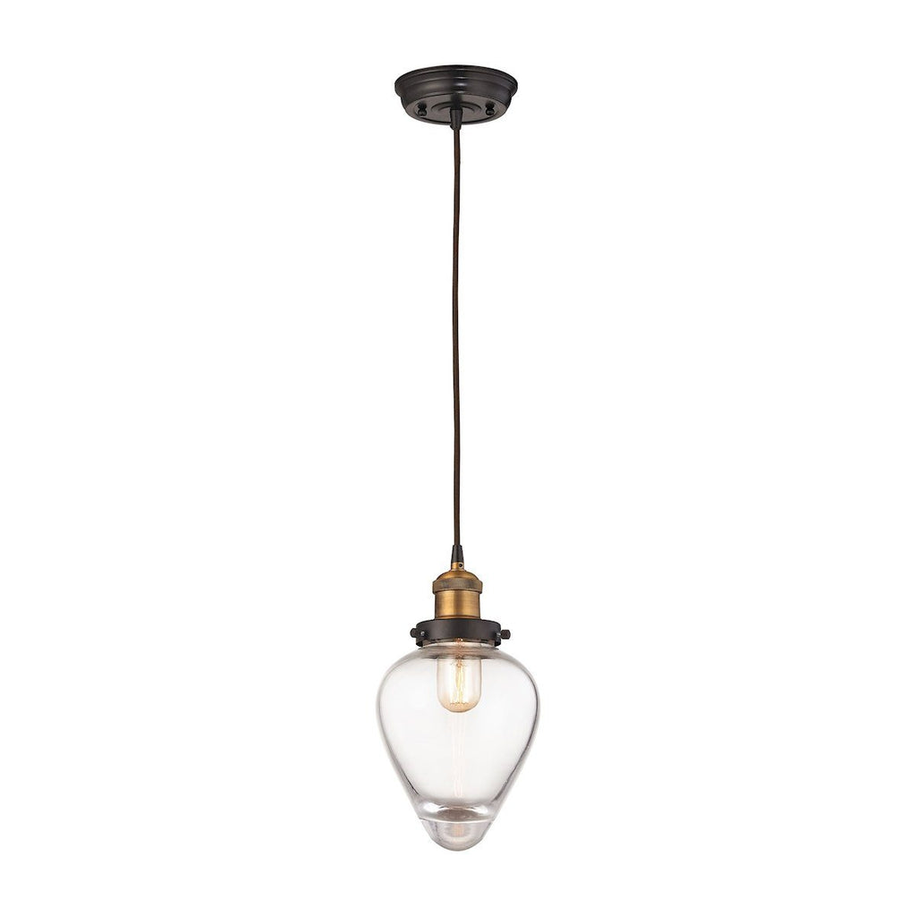 Bartram Pendant In Oil Rubbed Bronze And Antique Brass Ceiling Elk Lighting