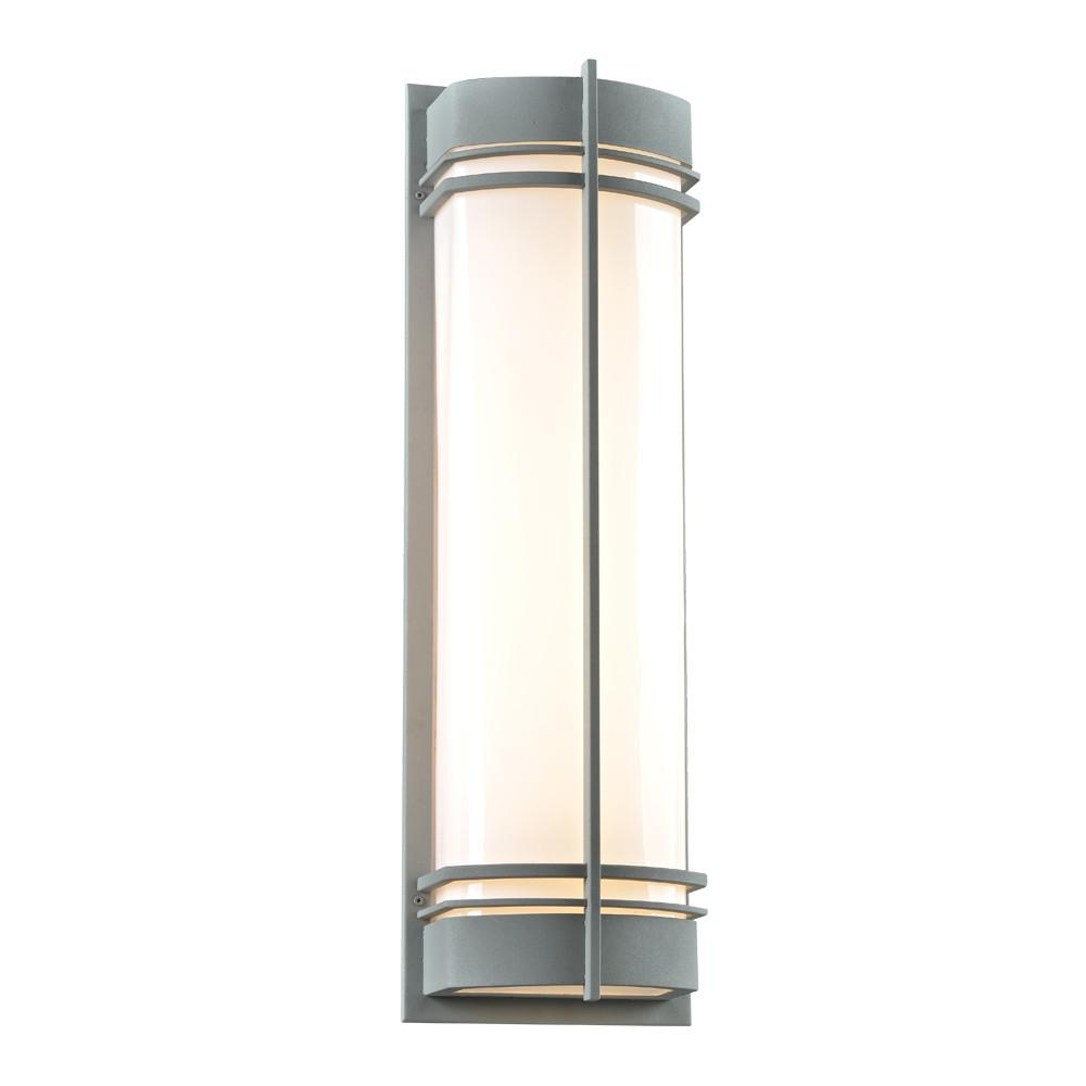 "Telford 28""h Outdoor Wall Light - Silver Outdoor PLC Lighting"
