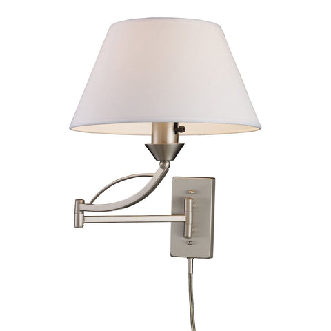 Elysburg 1 Light Swingarm Sconce In Satin Nickel Wall Elk Lighting