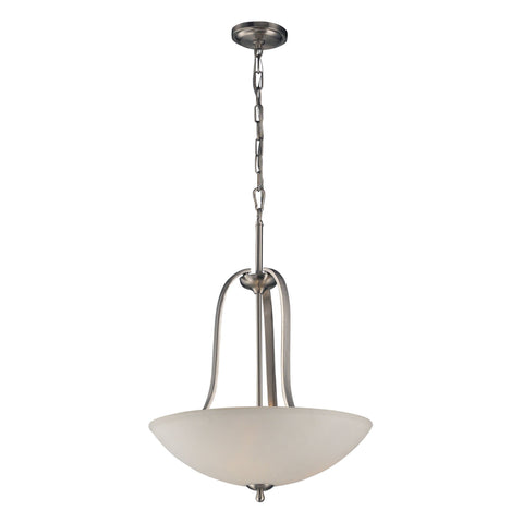 "19""w Brushed Nickel Bowl Pendant"